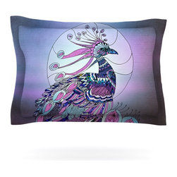 """Kess InHouse - Catherine Holcombe """"Peacock"""" Purple Lavender Pillow Sham (Cotton, 40"""" x 20"""") - Pairing your already chic duvet cover with playful pillow shams is the perfect way to tie your bedroom together. There are endless possibilities to feed your artistic palette with these imaginative pillow shams. It will looks so elegant you won't want ruin the masterpiece you have created when you go to bed. Not only are these pillow shams nice to look at they are also made from a high quality cotton blend. They are so soft that they will elevate your sleep up to level that is beyond Cloud 9. We always print our goods with the highest quality printing process in order to maintain the integrity of the art that you are adeptly displaying. This means that you won't have to worry about your art fading or your sham loosing it's freshness."""