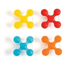 Bubble Bath Suction Hooks - These colorful plastic hooks attach with suction to the shower wall, bathtub or mirror. They'll keep toys and washcloths neat and tidy.