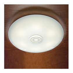 Holtkoetter - Holtkoetter   Opalika® Large Ceiling Fixture No. 3505/5 - Schott OPALIKA® Milchüberfangglas generates a light that is similar to natural sky lighting: it optimally diffuses the light with hardly any shadows. The Large Ceiling Fixture No. 3505 features double-layered glass made with a polished clear layer on top of a white flashed opal layer of glass. The fixture has a very low profile, while providing a substantial amount of light.Manufactured by Osram GmbH. Select from two shade cap styles, available in Satin Nickel, Antique Brass, Brushed Brass, Hand-Brushed Old Bronze, Polished Brass and Polished Nickel finishes.
