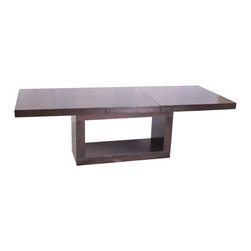 "BOGA Furniture - Savona Dining Table - Features: -Wenge finish. -24'' Leaf. -Rectangular shape. -Overall dimensions: 30"" H x 40"" W x 96"" D."