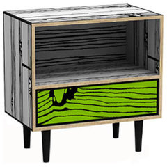 eclectic nightstands and bedside tables by Moss