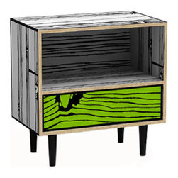 Wrongwoods collection Night Table (white/green) - Taking faux bois to a new level, the Wrongwoods collection from designer Sebastian Wrong and artist Richard Woods is on my list of all-time favorite collaborations,