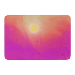 "KESS InHouse - Michael Sussna ""Yosemite Dawn"" Pink Orange Memory Foam Bath Mat (17"" x 24"") - These super absorbent bath mats will add comfort and style to your bathroom. These memory foam mats will feel like you are in a spa every time you step out of the shower. Available in two sizes, 17"" x 24"" and 24"" x 36"", with a .5"" thickness and non skid backing, these will fit every style of bathroom. Add comfort like never before in front of your vanity, sink, bathtub, shower or even laundry room. Machine wash cold, gentle cycle, tumble dry low or lay flat to dry. Printed on single side."