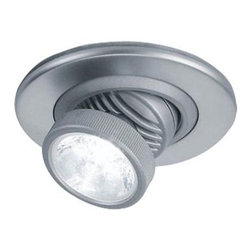 Bruck Lighting Systems - Ledra R Swivel LED Recessed Light by Bruck Lighting Systems - The Bruck Lighting Ledra R Swivel LED Recessed Light shows a superlative adornment that lends grace to your walls while radiating white light. The Ledra R Swivel LED Recessed Light features a 360 degrees rotation and 90 degrees tilt. Bruck Lighting Systems, founded in Germany in 1968, combines technologically-advanced lighting designs with innovative energy efficient light sources. The expansive lighting collection from Bruck ranges from flexible LED track lighting to hand-blown glass pendants to sleek display lighting.