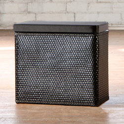 Carter - Carter Black Bench Laundry Hamper - This space-saving laundry hamper bench makes a great addition to your closet or laundry room. Keep your laundry out of sight while giving yourself a comfortable place to tie your shoes or get a quick bit of relaxation in your busy day.