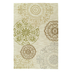 Kaleen - Kaleen Inspire Happening (Linen) 8' x 10' Rug - Inspire is actually what the name implies, a carefree and airy group of thought provoking designs. True to Kaleen's commitment of exceptional styling and value at an affordable price Inspire is over-tufting or a layering of textures and colors providing the very best affordable and durable luxury ideal for any setting in your home or office. Inspire Collection is made of only the finest 100% Premium Polyester yarn. Produced and over-tufted in China. * made with blend of textured and over-tufted yarns * Custom sizes not available * incredible value * soft yet extremely durable