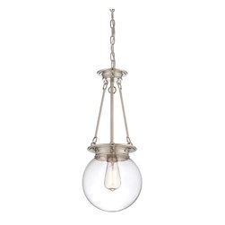 Savoy House Lighting - Savoy House Lighting 7-3300-1-109 Glass Filament 1 Light Pendants in Polished Ni - Salute the bygone days of incandescent illumination with these exceptional  Savoy House glass pendants. The nostalgic bulbs are on full display inside clear glass globes in 1- or 3-light styles. Available in English  Bronze ,  Polished Nickel, and Satin Nickel.