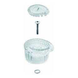 Moen - Moen 100710 Clear Knob Handle Kit for Posi-Temp Single Handle Tub - Moen 100710 Clear Knob Handle Kit for Posi-Temp Single Handle Tub and Shower Faucet with White and Chrome Insert