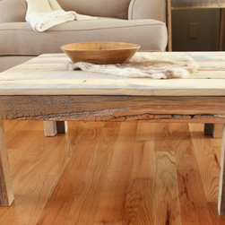 Reclaimed Wood Parsons Coffee table - Solid Wood Construction - Parsons Table (Hemmingway Collection)