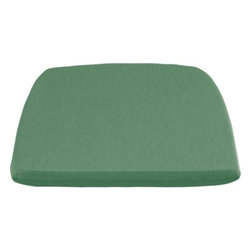 Orleans Sunbrella® Bottle Green Dining-Spring Chair Cushion - Optional seat cushion is covered in fade- and weather -resistant Sunbrella® acrylic in bottle green. Fabric tab fasteners hold cushion in place.