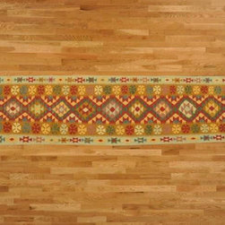 Kilim Qasqagi - Vegetable Dye 2'10x12'9'' 100% Wool Flat Weave Kilim Oriental Area Rug, Runner.