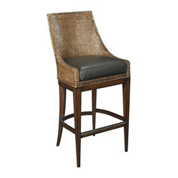 EuroLux Home - New Bar Stool  Brown/Beige/Tan Leather - Product Details
