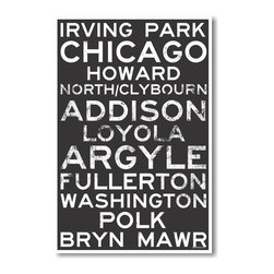 PosterEnvy - Chicago Signs - NEW World Travel City Train Station Sign Poster - Chicago Signs - NEW World Travel City Train Station Sign Poster