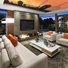 Contemporary Family Room by Universal Stretch Ceilings