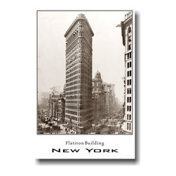 "PosterEnvy - Flatiron Building - New York City- Vintage Photo Art Print Poster - 12"" x 18"" heavy, durable 80lb satin paper - Flatiron Building - New York City - Vintage Photo Art Print Poster"
