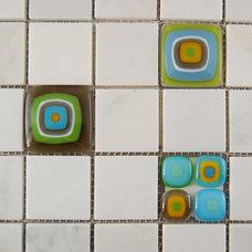 Modern Floor Tiles by Fuzing Glass