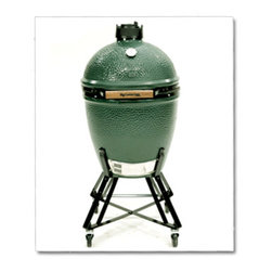 Big Green Egg - Large - The Large EGG is the most popular size and a favorite to handle the cooking needs of most families and gatherings of friends. Accommodates all EGGcessories for baking, roasting or smoking – and it's versatile enough for weekend cook-outs or pizza parties, large enough for eight steaks at once, and efficient enough for an impromptu meatloaf for two!