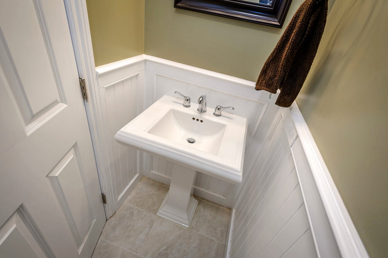 Traditional Powder Room by Steven Corley Randel Architect