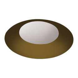 Pure Lighting - Aurora Round 2 Inch Beveled Trim and Housing - Aurora round beveled 2 inch specification grade recessed adjustable accent fixture for plaster or drywall construction. Trim finish available in White, Haze, Bronze or Black. The flush mounted rigid plaster plate which is finished into the ceiling maintains a flat finish and secures the removable flush beveled trim. The beveled trim raises the 2 inch aperture above the ceiling plane. Combining with the Aurora dome with the tilt gear hidden behind the lamp creates a clean internal look. Hot aiming with a Philips screwdriver offers 0-42 degree vertical adjustment and 362 degree horizontal rotation without beam clipping. Includes AH1 IC AirTight housing with 120 volt magnetic transformer rated for 75 watt load, suitable for remodel and new construction installations. Secondary output voltage is 11.8 volts. Designed to accommodate ceiling thickness from .50 to 1.25 inches. Machined aluminum snoot and die-formed aluminum back shield controls internal light spill. Includes snoot and a soft focus lens, with room for lamp and two additional accessories, sold separately. Requires one 12 volt GU5.3 MR16 IR lamp up to 50 watts, not included. 50 watt IR equivalent to a 75 watt halogen. UL listed for damp or wet location when used with LWET glass lens accessory and 42 watt max lamp, sold separately.