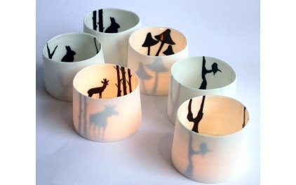 modern candles and candle holders by Hard to Find