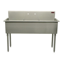 Griffin - Griffin Triple Compartment Scullery Sink, Stainless Steel (T60-368) - Griffin T60-368 Triple Compartment Scullery Sink, Stainless Steel