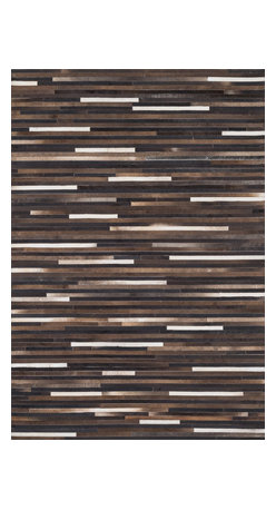 "Loloi Rugs - Loloi Rugs Promenade Collection - Multi, 3'-6"" x 5'-6"" - Hand stitched in India of 100% authentic cowhide, Promenade is a contemporary version of the timeless cowhide rug. The modern collection offers patterns that range in graphic designs with a strong contrast of light and dark hides. And the durable cowhide fiber makes Promenade ideal for your most frequented rooms."