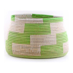 Senegalese Knitting Basket, Green
