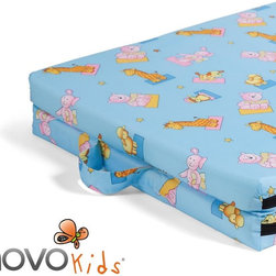 NOVOkids® Fold-A-Bed - NOVObasics® Fold-A-Bed is a useful as an extra guest bed, while travelling or camping. Outer cover is removable and washable. Comes in 3 fun, kid-friendly patterns. Easy folding and lightweight. Great for sleepovers!
