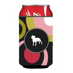 Caroline's Treasures - Staffed Can or Bottle Hugger - Can Cooler - this collapsible koozie fits 12 ounce beverage. Cans or bottles. Permanently dyed and fade resistant. Will not crack or peel. Great to show off your breed. Match with one of the insulated coolers for a nice gift pack.