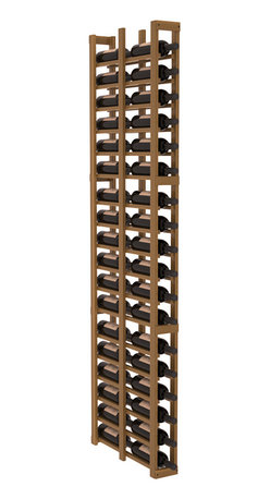 """Wine Racks America - 1 Column Double Deep Cellar in Redwood, Oak + Satin Finish - Wine storage capacity to the next level. Fit 3 cases of wine on less than 5"""" of wall space! This narrow wine rack is perfect for creating maximum storage capacity from every little nook and cranny without requiring more wall space. This rack is built to last. Guaranteed."""