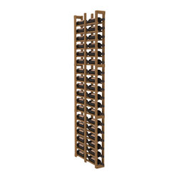 "Wine Racks America - 1 Column Double Deep Cellar in Redwood, Oak + Satin Finish - Wine storage capacity to the next level. Fit 3 cases of wine on less than 5"" of wall space! This narrow wine rack is perfect for creating maximum storage capacity from every little nook and cranny without requiring more wall space. This rack is built to last. Guaranteed."