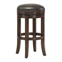 American Heritage - Sonoma Stool in Suede (Bar Height Stool) - Choose Stool: Bar Height StoolFinished in Suede with a comfortable Tobacco Bonded Leather Cushion. This Wood 360° Full-Bearing Swivel stool comes as an Assembled Base & Seat with Adjustable Levelers. 1 Year Warranty. Dust with damp cloth; clean with water only. 18 in. W x 17.5 in. D x 26 in. H (21 lbs)