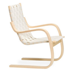 Aalto Armchair 406 - This beautiful webbed chair defied the properties of wood as designers thought they knew it during the mid-century modernist movement. Alvar Aalto was at the forefront of experimenting with bent birchwood, and this chair is a collector's dream.