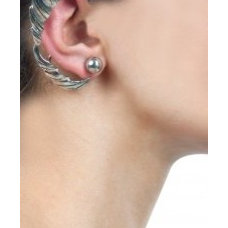 Princess leaf silver ear cuff available only at Pernia's Pop-Up Shop.