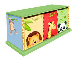 Teamson Design - Fantasy Fields Hand Painted Sunny Safari 3 Drawer Cubby - Teamson Design - Storage Bins - TD0131A - Rise and shine the early bird catches the worm! On the farm there is no time to sleep in because the animals need to be fed and chores need to get done! Teamson's Happy Farm Wall Clock assists your little one in learning to tell time and to keep track of their responsibilities. Hand carved into the shape of a barn and painted a rustic red the clock throws off a country vibe and is the perfection addition to the farm collection.