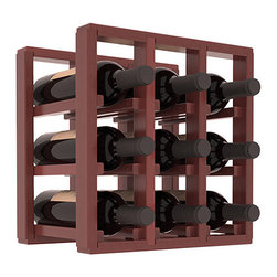 Wine Racks America® - 9 Bottle Counter Top/Pantry Wine Rack in Redwood, Cherry Stain + Satin Finish - These counter top wine racks are ideal for any pantry or kitchen setting.  These wine racks are also great for maximizing odd-sized/unused storage space.  They are available in furniture grade Ponderosa Pine, or Premium Redwood along with optional 6 stains and satin finish.  With 1-10 columns available, these racks will accommodate most any space!!