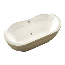Spa World Corp - Atlantis Tubs 3471AS Aquatica 34x71x21 Inch Freestanding Soaker Bathtub - The Aquatica whirlpool series features contemporary elliptical design, increasing the inner length of the bathtub. Slight side inset of the side edge adds a sense of modern design, which will compliment bath and sauna rooms of various settings and styles. Soaking bathtubs are a more Traditional style bath tub without water or air systems. Soaking in warm water will sooth the body, boost cardiac output, lower blood pressure and improve circulation. Water also hydrates the skin and helps pores eliminate toxins. Freestanding tubs are meant to be proudly displayed rather than crowded in a corner and add character to your bathroom.