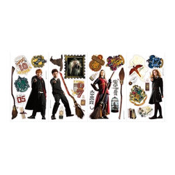 RoomMates Peel & Stick - Harry Potter Wall Decal - Bring the magic of harry potter to life on your walls with these peel and stick wall decals. Featuring harry ron hermione and more of your favorite characters these decals are sure to bring enchantment and excitement to any room. Pair them with our giant harry potter wall decals for the full effect!