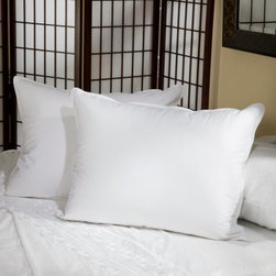 Belle Epoque Down Pillow - The Belle Epoque Cirrus Down Pillow cradles your head in softness, support, and warmth. This pillow is covered in soft cotton fabric and stuffed with a blend of white goose down and feathers with a fill power over 400. Choose from three firmness levels - soft, medium, or firm - to suit your comfort preference and sleeping position. This pillow is conveniently machine-washable and is covered by a three-year limited warranty.Pillow Dimensions:Standard: 26 x 20 inchesQueen: 30 x 20 inchesKing: 36 x 20 inchesEuropean: 26 x 26 inchesAbout CGG Home FashionsWhether you are shopping at Bloomingdale's or relaxing at a premier resort, you are sure to find and appreciate CGG Home Fashions products. For over 20 years, the company has been offering a broad selection of luxury linens, high thread count sheets, duvet covers, pillows, down and synthetic comforters, drapes, and table linens. CGG's acclaimed Belle Epoque collection is the epitome of elegance, with styles ranging from traditional to contemporary. With offices and a warehouse in Yonkers, New York, and a showroom on New York's Fifth Avenue, CGG is at the epicenter of textile design and innovation.