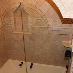Old World Main Bathroom, Medina #1 - In this bathroom renovation Sonoma Reserve Tile Collection was used