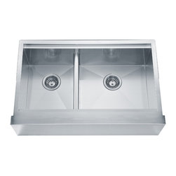 Kitchen Sinks - Model: DAF3321L  (304 Stainless Steel, 18/10 Chrome-Nickel)