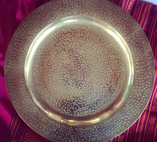 tabletop - MOROCCAN BRASS TRAY / CHARGER
