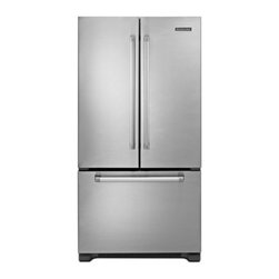 """KitchenAid - Pro Line Series KFCP22EXMP 36"""" 21.8 cu. ft. Capacity Counter-Depth French Door B - Chill Temperature Management System uses sensors to regulate temperatures and maintain ingredient freshness Automatic ice maker ensures a constant supply of ice on hand at all times Fresh - Seal humidity-controlled crispers feature fruit and vegetabl..."""