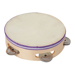 The Original Toy Company - The Original Toy Company Kids Children Play Wooden Tambourine - Wooden construction. Natural membrane and cymbals. Retail Box. Ages 3 years plus.