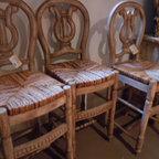 White wash teak bar stools Original designs from Texas Tuscan Furniture - White wash teak bar stools