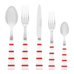 Sabre Breton Nautical French Flatware - The Sabre Breton Flatware collection brings a nautical feel to your dinner or party. Available individually or in sets.