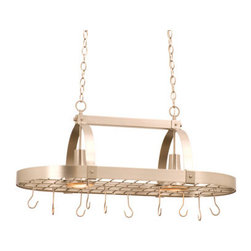 Kalco - Kalco 3616 2 Down Light from the Contemporary Collection - Kalco 3616 Two Down Light and Ten Hook Pot Rack