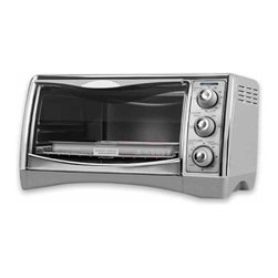 Applica - Black and Decker Perfect Broil Toaster Oven - Extra large capacity holds up to a 12 in. pizza. Extra deep curved interior. Nonstick interior surface. Reversible chrome plated broiling rack. Dual position rack slots. Removable crumb tray makes cleaning a breeze. Convection bake, broil, toast and keep warm. 60 minutes timer. Warranty: One yearIts everything you wanted and more! Cooking made easy- hot air circulates for faster and even cooking with convection baking while the Perfect Broil system maintains the set temperature for exceptional results.