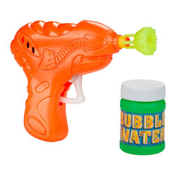 Retro Bubble Gun - Way back when before video games, people squirted each other with bubble guns. Go back to your childhood roots and experience the fun of atomic-era bubble guns around the yard with laughter.