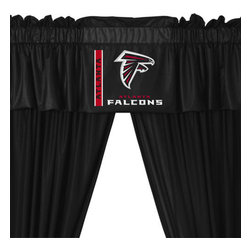 Store51 LLC - NFL Atlanta Falcons Football 5pc Valance-Curtains Set - FEATURES: